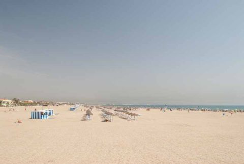 Playa El Cabanal Arenas Valencia