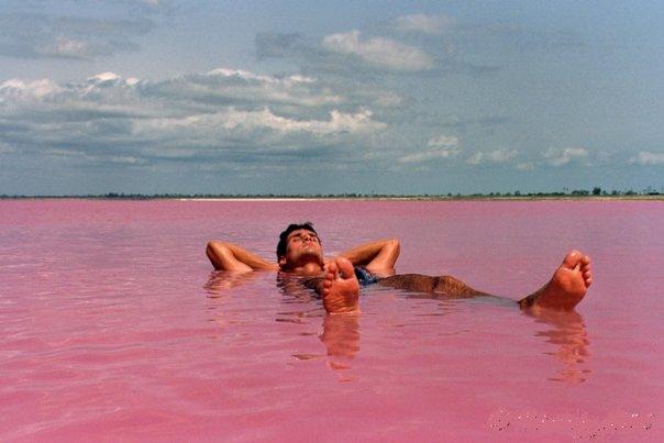 Torrevieja salt lake in Spain