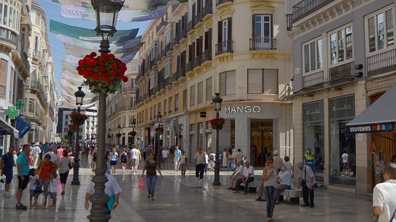 Malaga center shopping