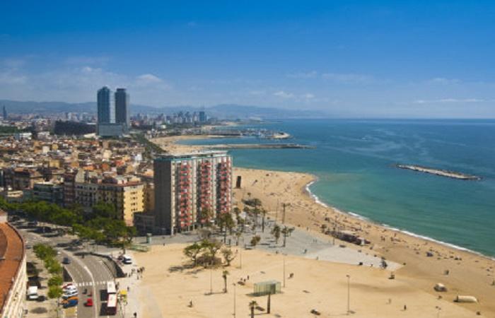 La Barceloneta beach in Barcelona