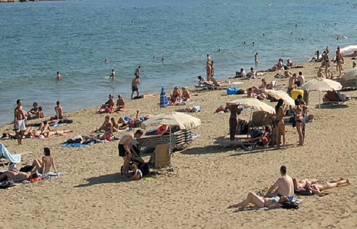 Llevant beach in Spain