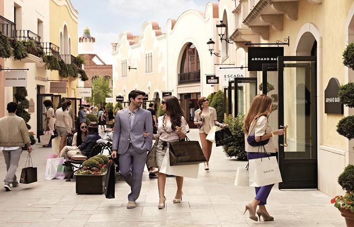 La Roca Village shopping center in Barcelona