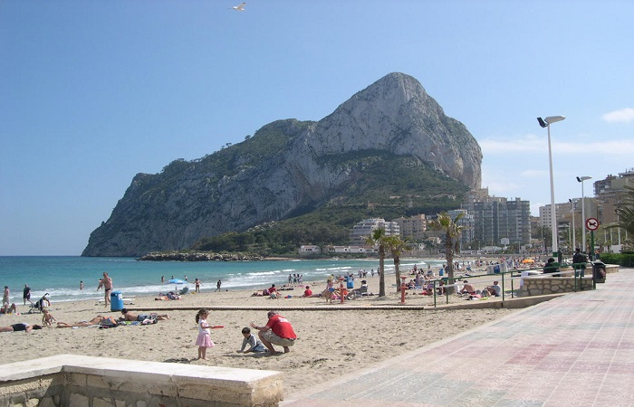 Playa Levante La Fossa in Calpe