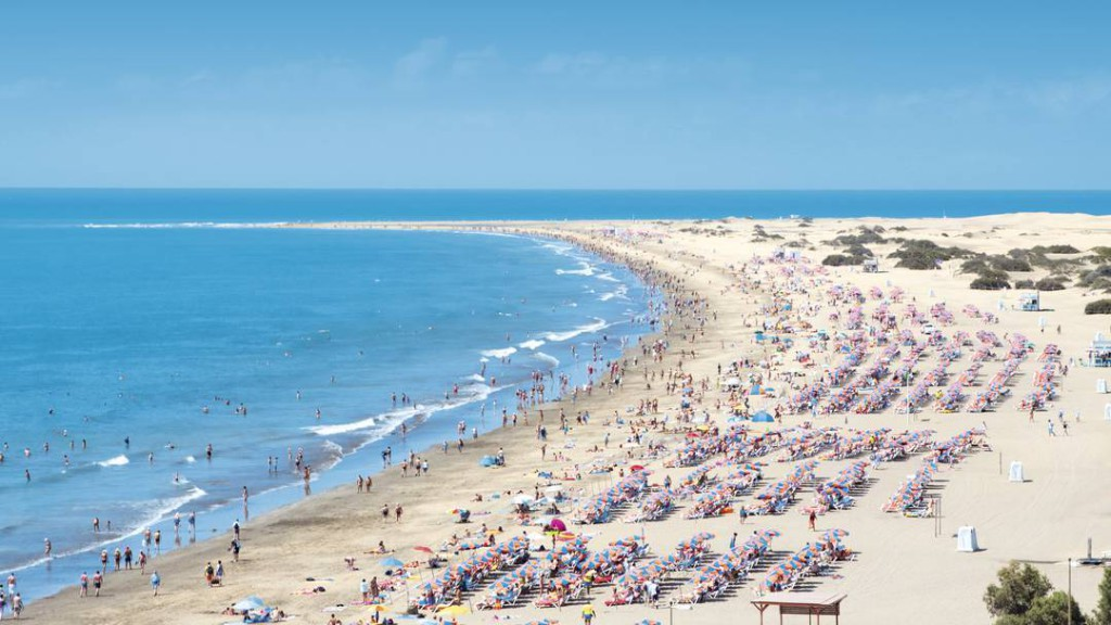 Playa del Ingles beach Gran Canaria