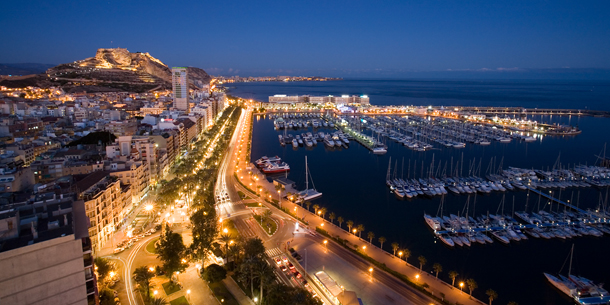 The harbour in Alicante