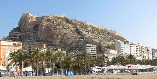 Castillo de Santa Barbara in Alicante