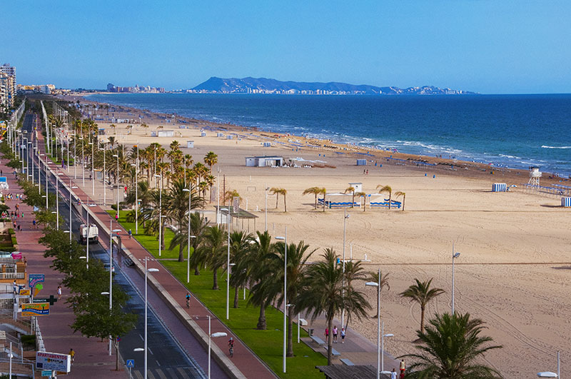 Beaches in Valencia Gandia