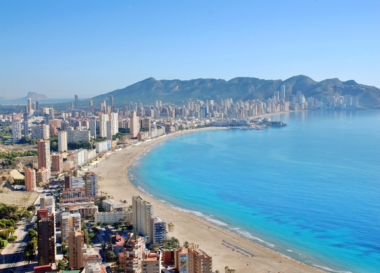 Levante beach in Benidorm, Valencia