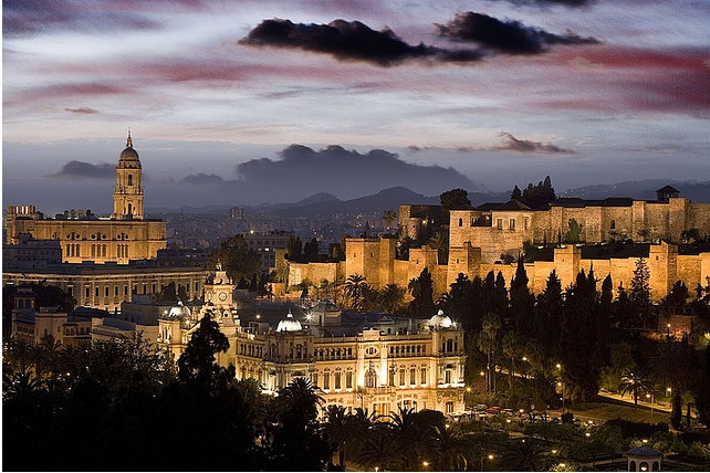 The city of Malaga in Spain
