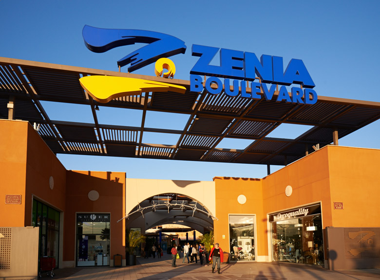 Zenia Boulevard sjopping center in Torrevieja