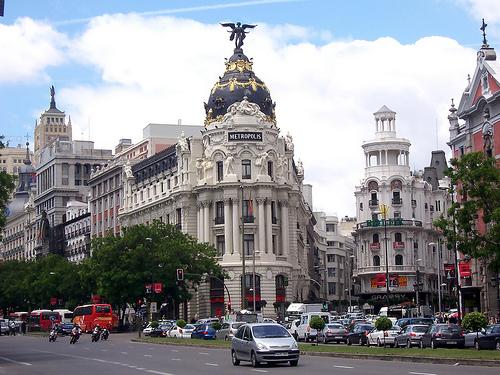 District Barrio de Salamanca in Madrid