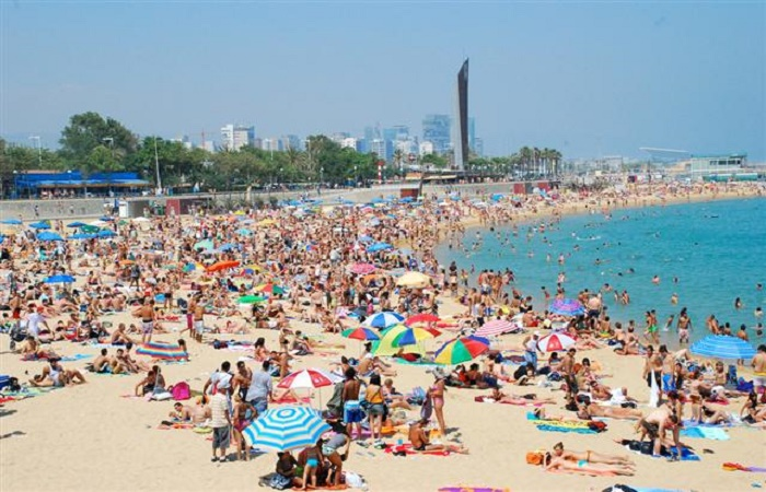 La Mar Bella beach in Barcelona