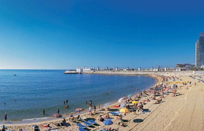 La Nova Icaria beach in Barcelona