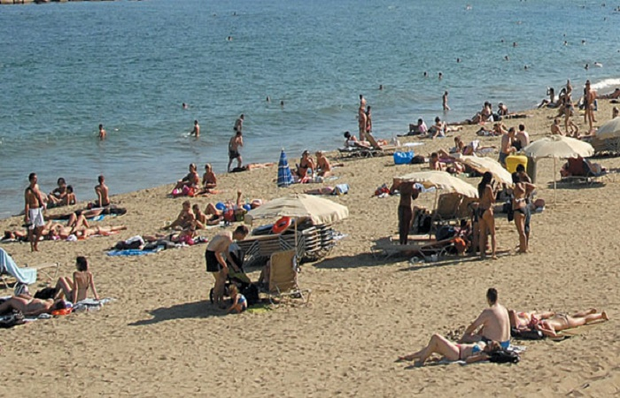 Llevant beach in Spain