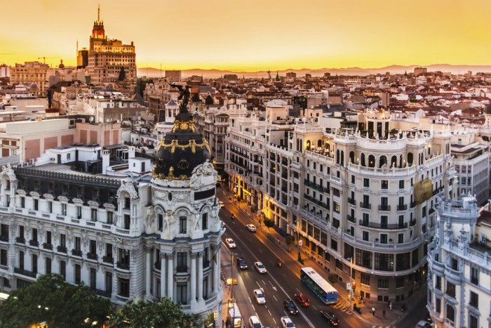 Nightlife at Gran Via and Puerta del Sol