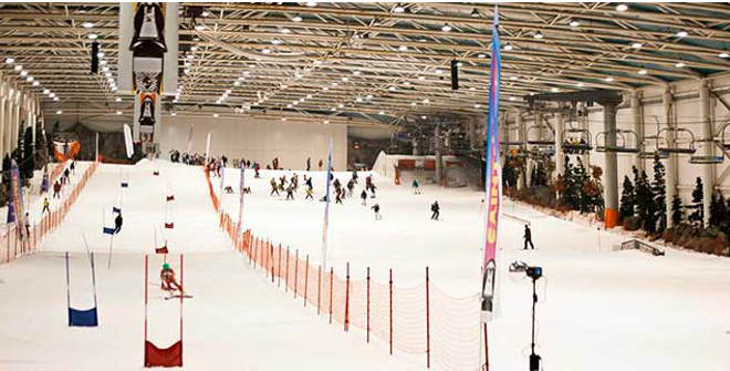 Snowzone in Madrid