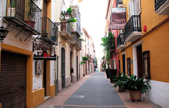 Calle Cavallers in Denia