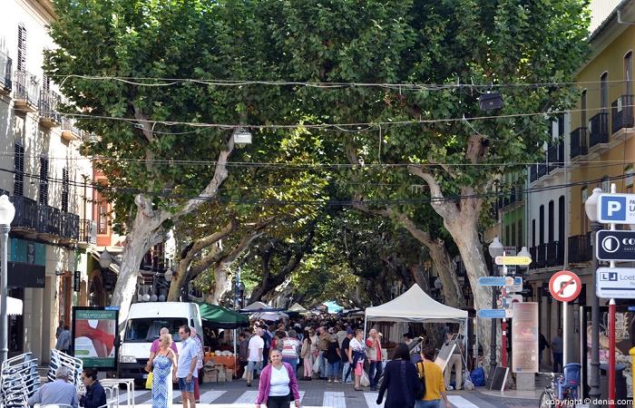 Calle Marqués de Campo in Denia
