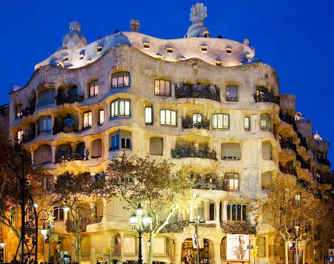 Casa Mila La Pedrera in Barcelona