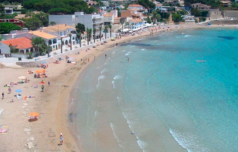 Portet beach in Moraira